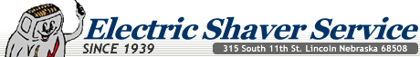 Electric Shaver Service, Since 1939